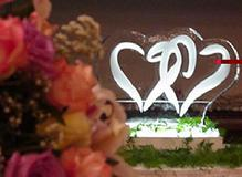 Engraved Hearts Ice Sculpture world class ice