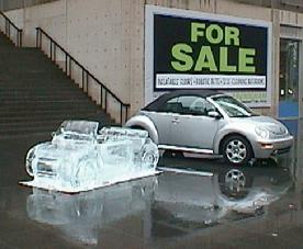 VW Beetle in Ice - World Class ice sculpture .com