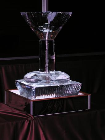 Martini Glass Ice Luge worldclassice.com