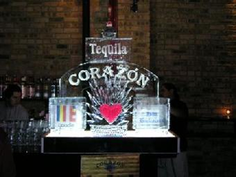 Tequila ice display worldclassice.com