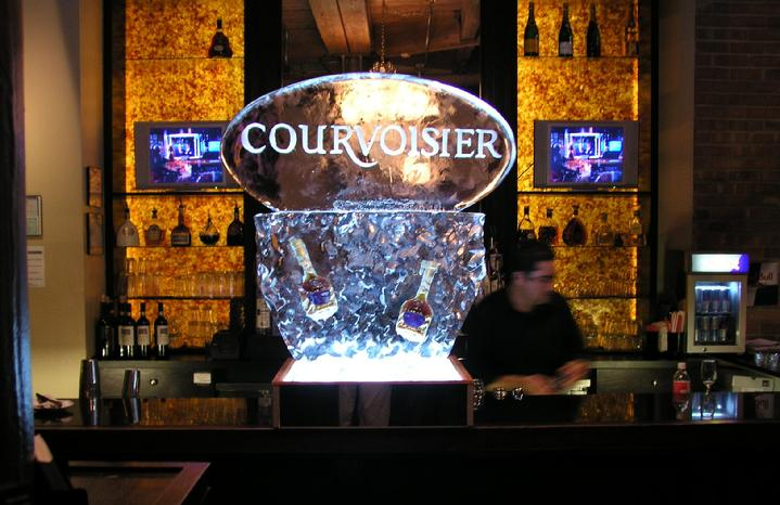 Courvoisier logo world class ice sculpture